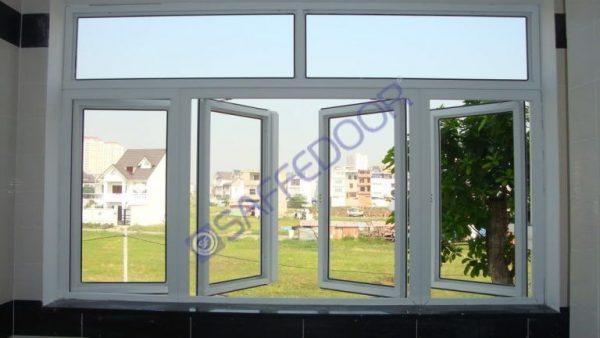 Hệ cửa sổ uPVC mở quay ra ngoài